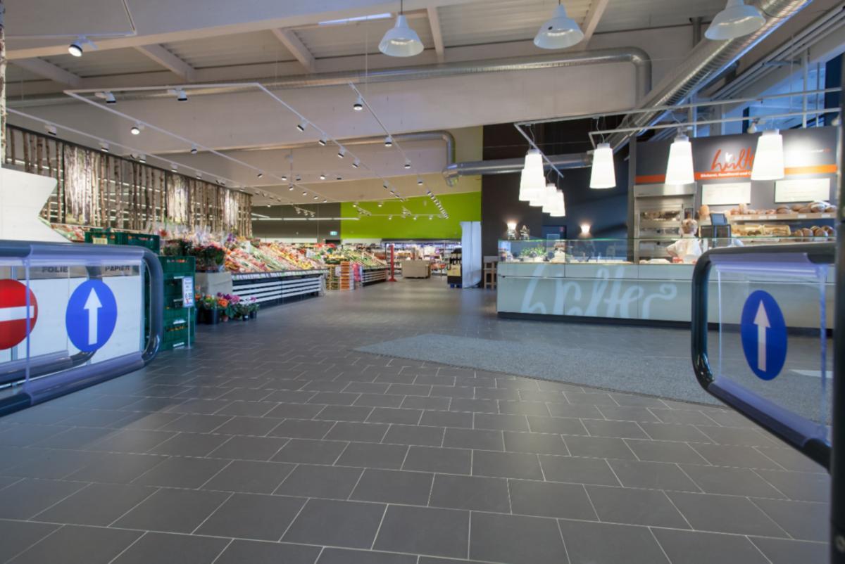 Ceramic Tiles Supermarket Floor