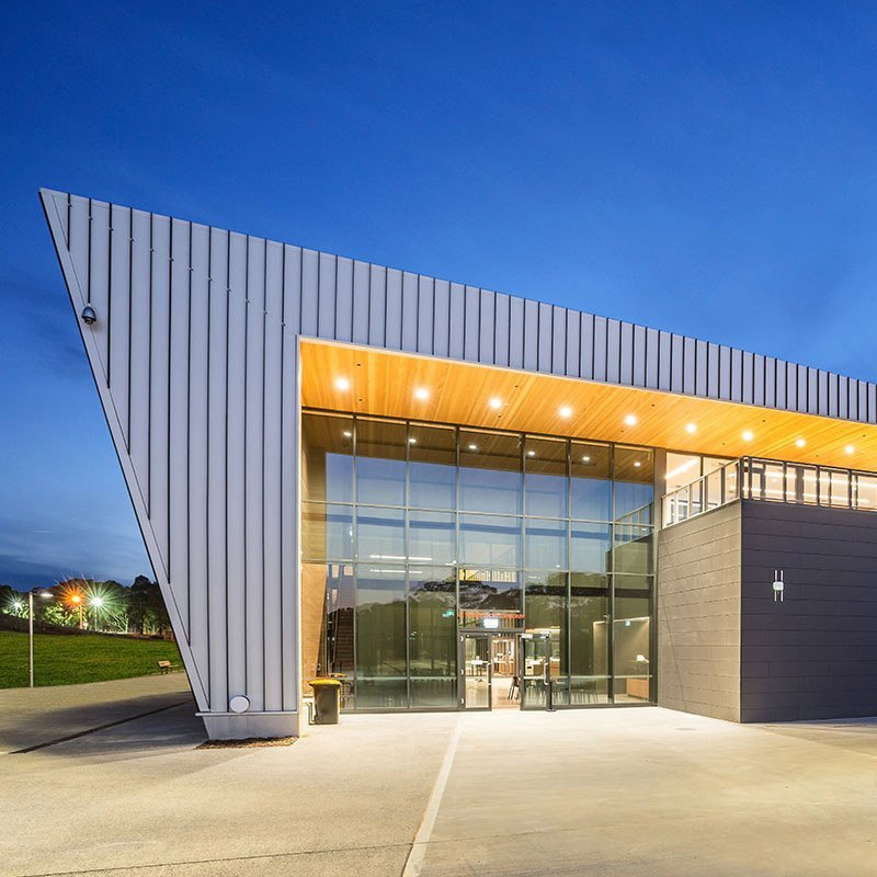 Commerical Ceramics Latrobe Sports Centre Entry By Night