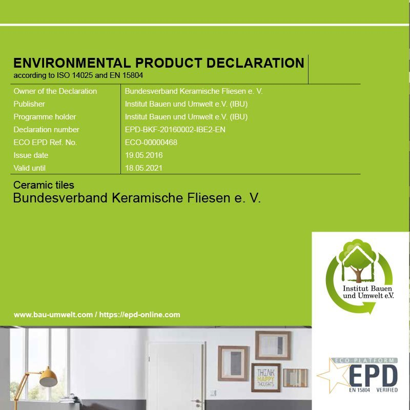 Environmental Product Declaration Ceramic Products