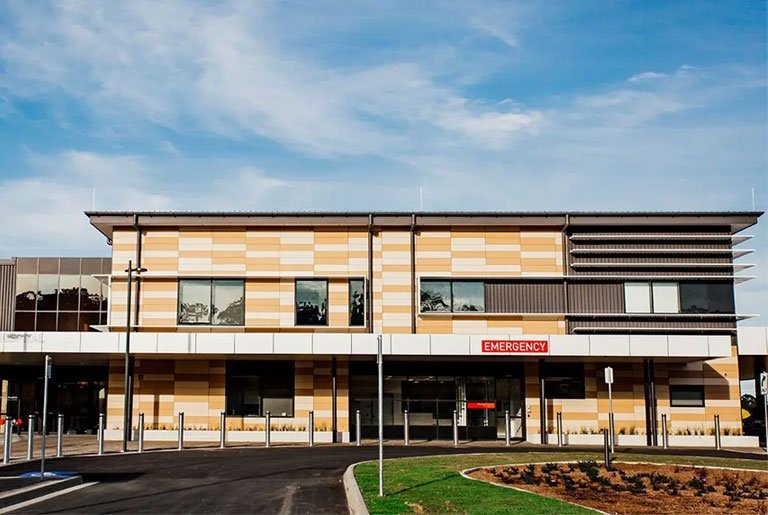 Macksville Hospital Noncombustlble Ceramic Facade